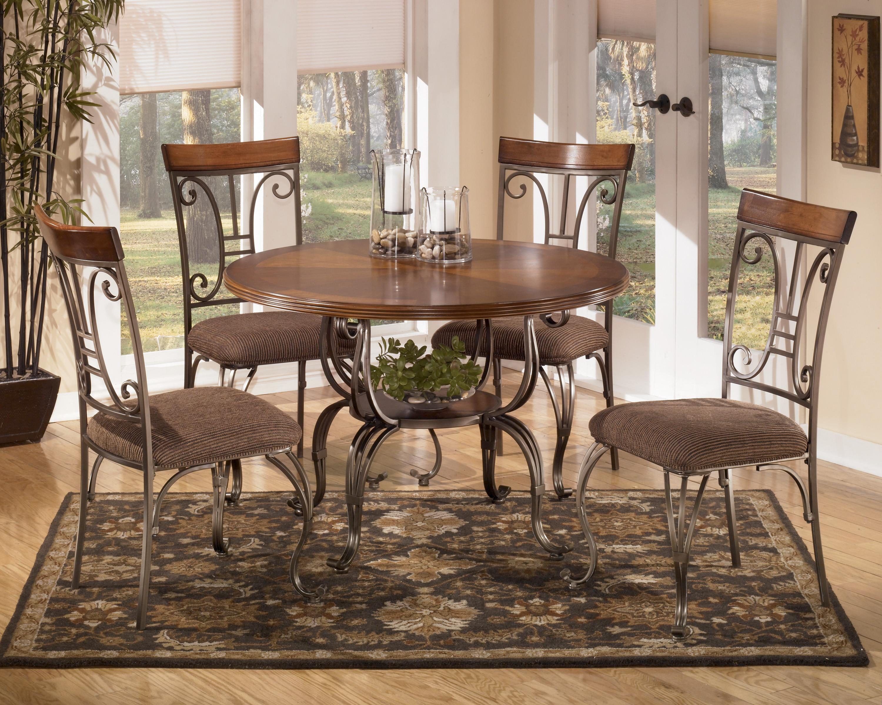 round kitchen table set Signature Design by Ashley Furniture Plentywood 5 Piece Round Dining Table Set Item Number