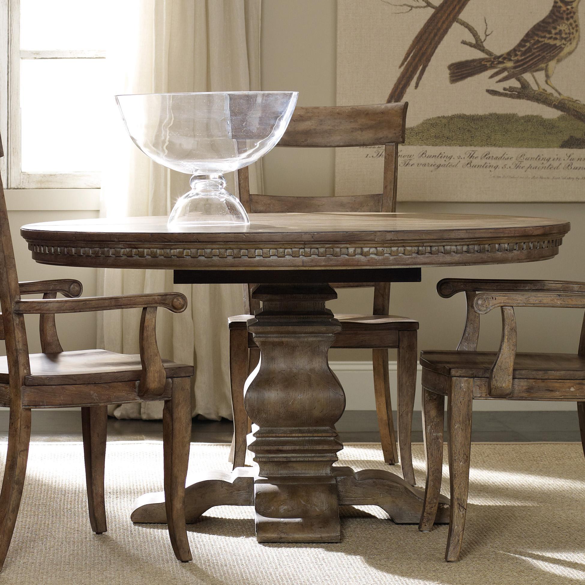 round kitchen table Hooker Furniture Sorella Pedestal Dining Table Item Number