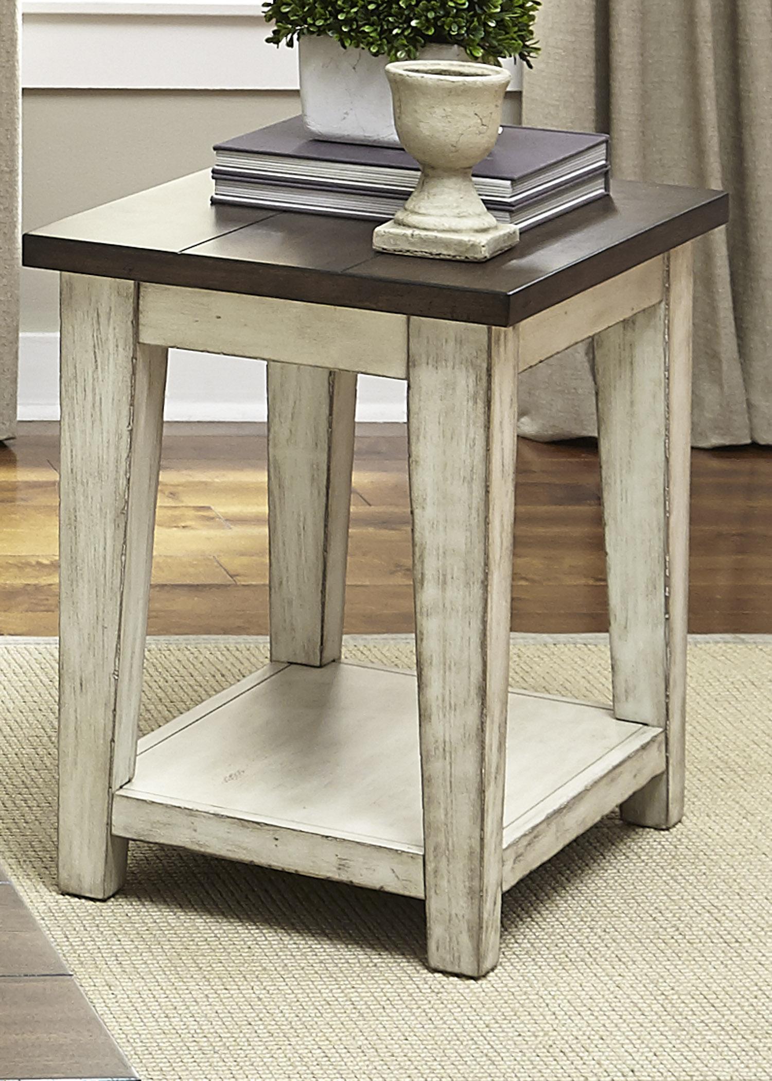 Rotmans Liberty Furniture Lancaster Rustic End Table  Item Number 612OT1021