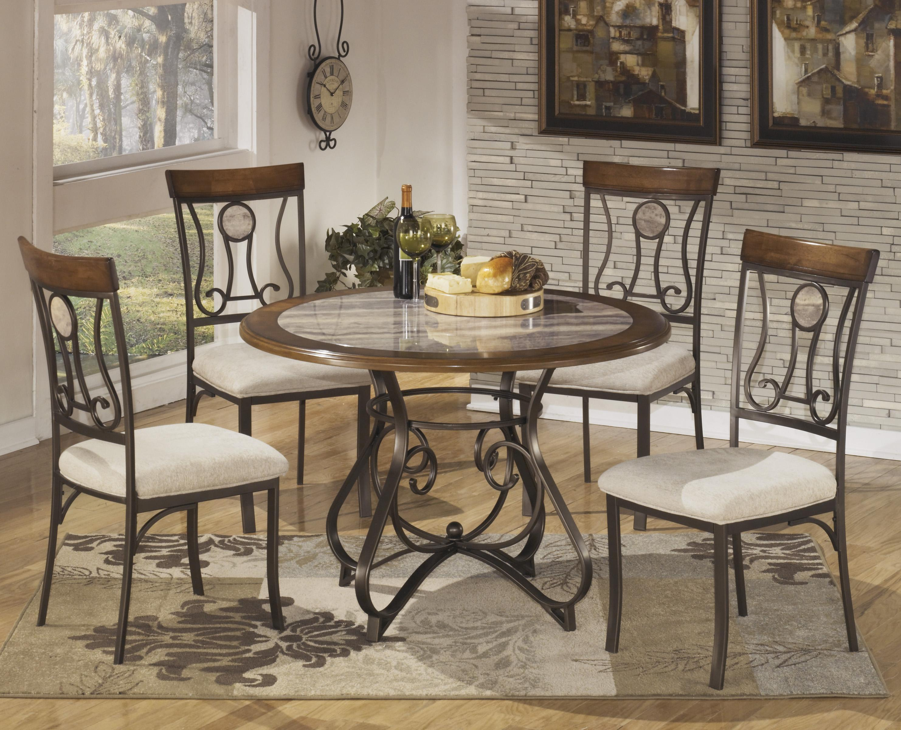 round kitchen table sets Signature Design by Ashley Hopstand 5 Piece Round Dining Table Set Item Number