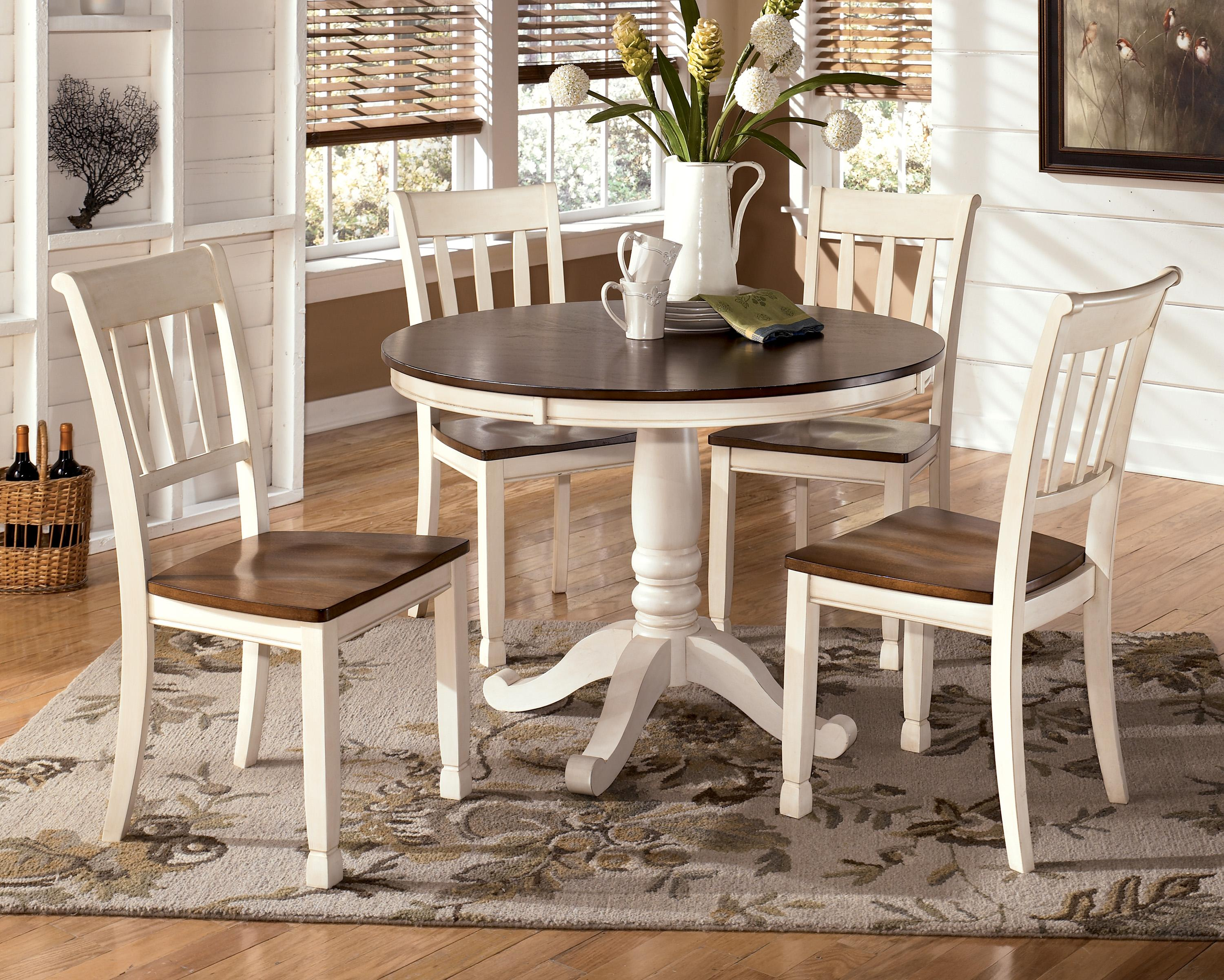 kitchen round table set Signature Design by Ashley Whitney 5 Piece Round Table Set Item Number D