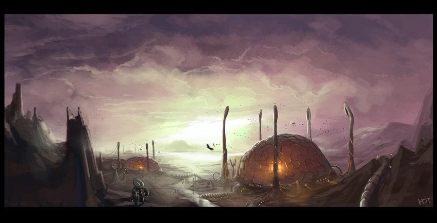 Cityscape_12___Invid_Hive_by_highdarktemplar