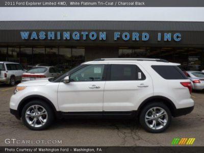 White Platinum Tri-Coat - 2011 Ford Explorer Limited 4WD - Charcoal Black Interior | GTCarLot ...