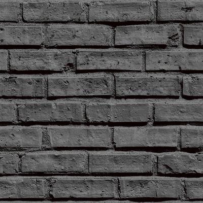 Arthouse Black Brick Effect Unpasted Wallpaper-623007 - The Home Depot