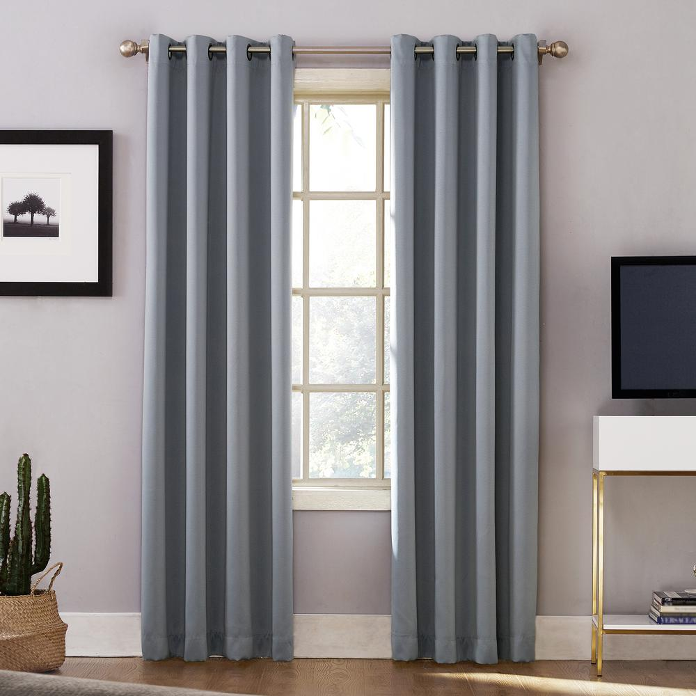 Appealing Woven Home Ater Grade Blackout Haze Grommet Single Curtain Panel Sun Zero Oslo Woven Home Ater Grade Blackout Haze Grommet Home Ater Blackout Curtains Home Ater Window Curtains houzz-03 Home Theater Curtains