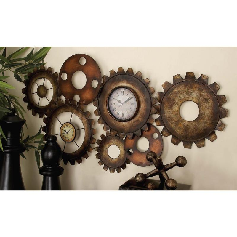 Large Of Large Wall Clock With Gears