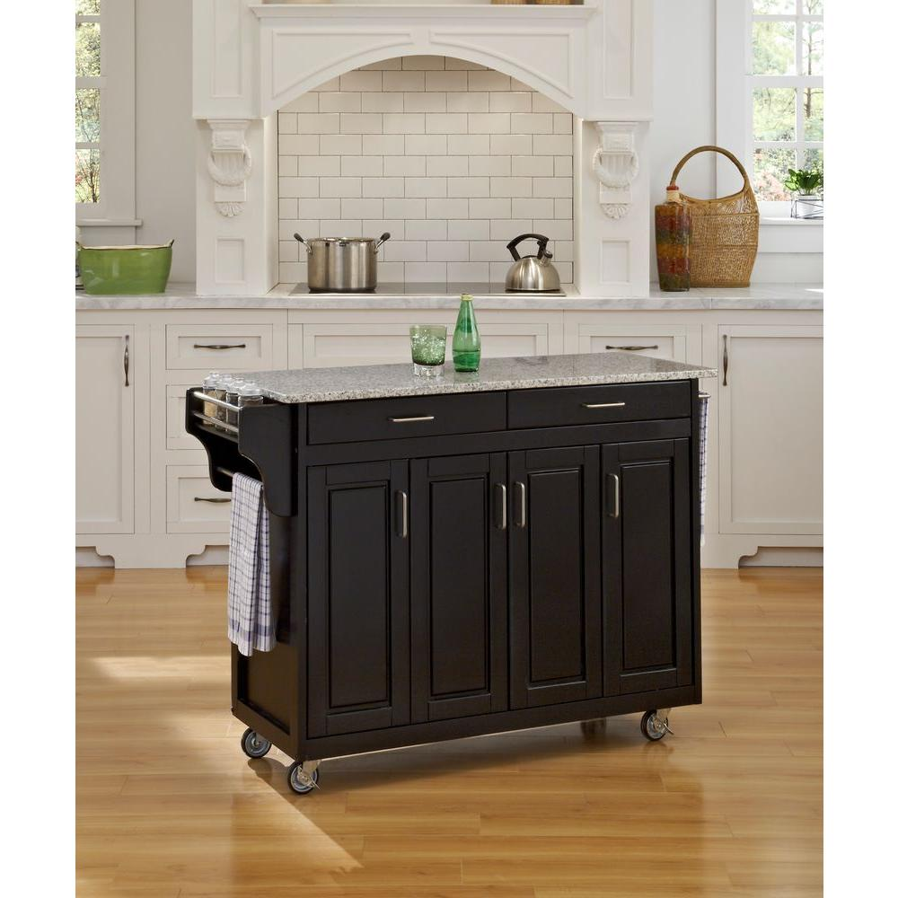 Decent Pepper Granite Home Styles Dolly Madison Black Kitchen Cart Black Kitchen Cart Salt Narrow Kitchen Cart On Wheels kitchen Narrow Kitchen Island On Wheels