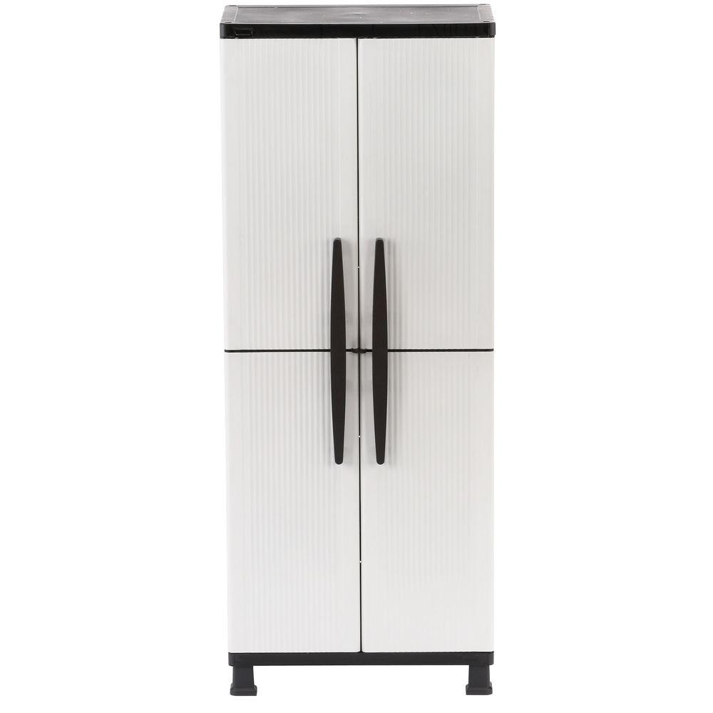 Traditional W Shelf Plastic Cabinet Hdx W Shelf Plastic Cabinet Doors Tall Narrow Cabinet Tall Shoe Cabinet Doors houzz 01 Tall Cabinet With Doors