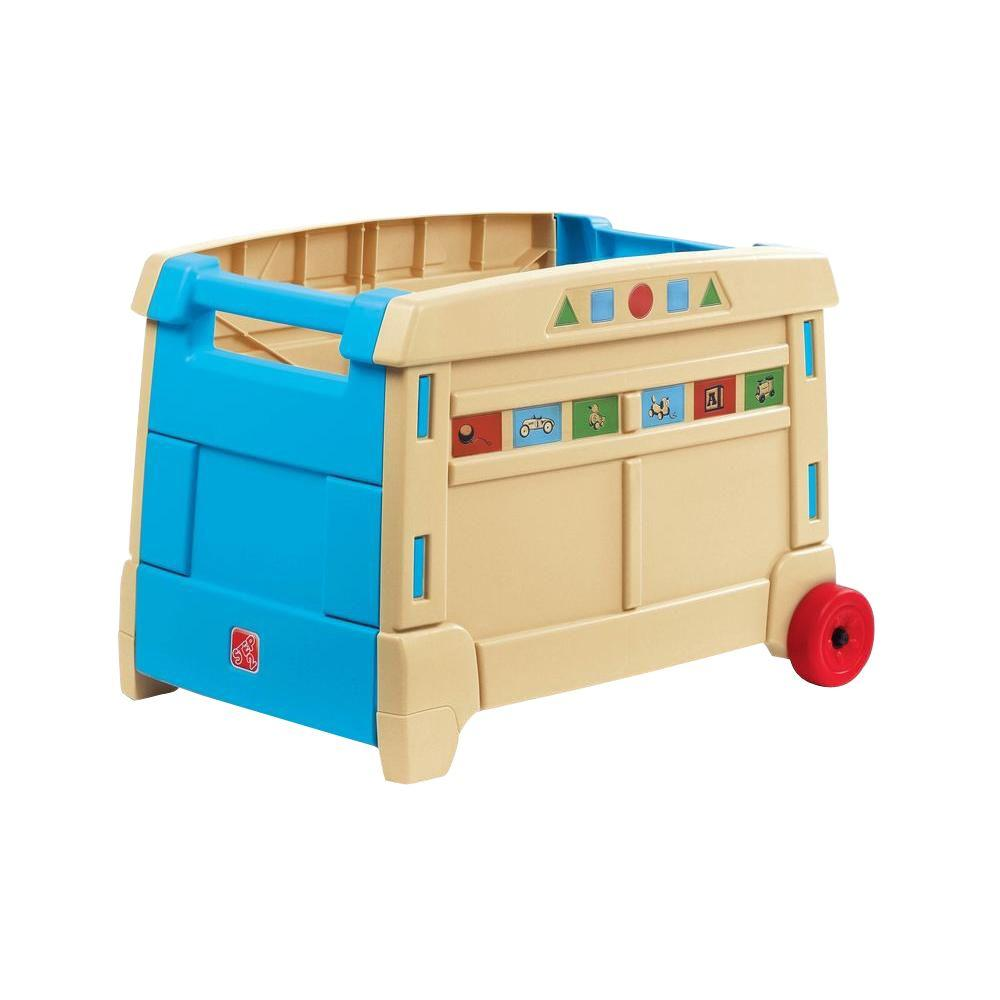 Nifty Roll Toy Box Blue Tan Lift Roll Toy Home Depot Kids Toy Boxes At Toys R Us Kids Toy Boxes Blue Kids Playhouse Tan Lift baby Kids Toy Boxes