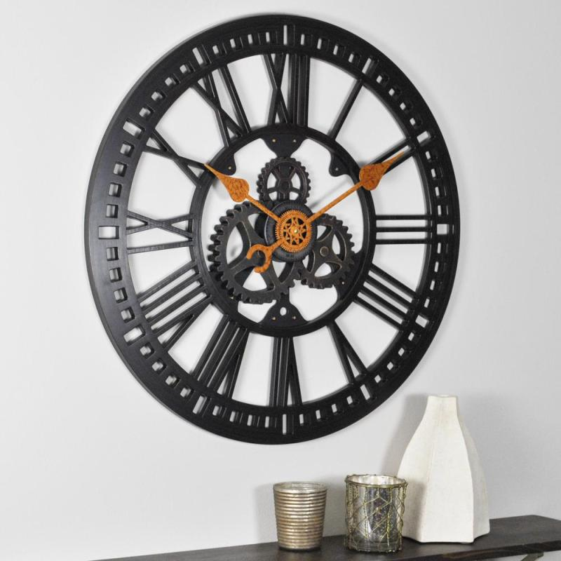 Large Of Gear Wall Clock