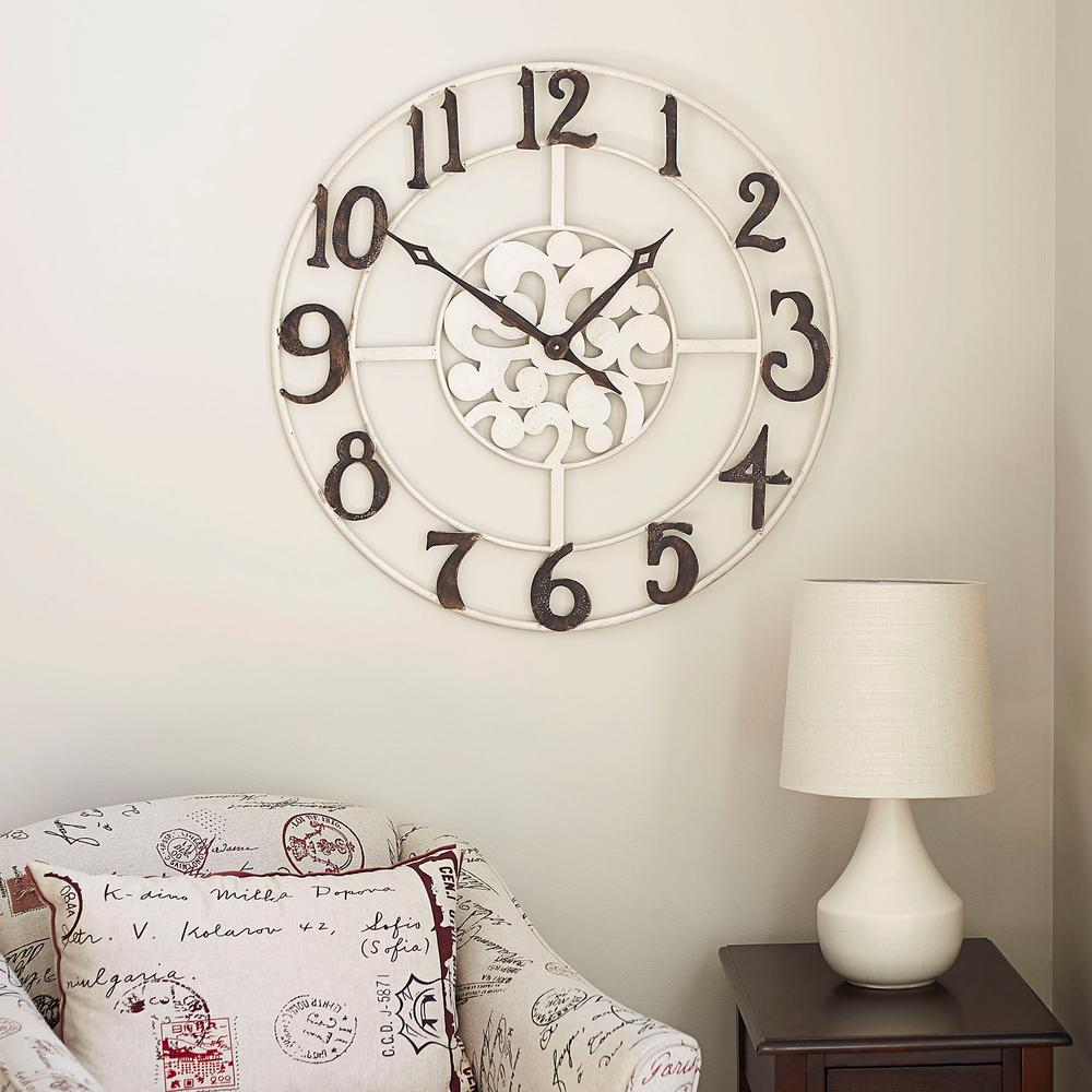 Creative Househ Essentials Numbers Wall Clock Househ Essentials Numbers Wall Home Depot Wall Clock Numbers Falling Off Wall Clock Without Numbers furniture Wall Clock Numbers