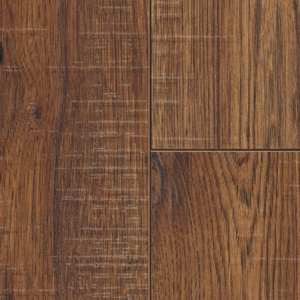 Home Depot Decorators Collection Distressed Brown Hickory 12 Mm Thick X 614 In