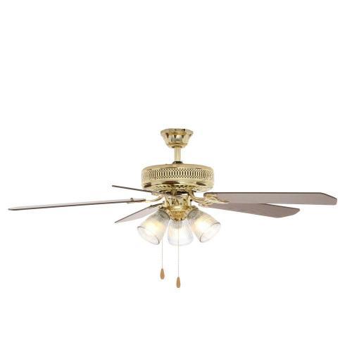 Salient Polished Brass Ceiling Fan Light Kit Hampton Bay Landmark Polished Brass Ceiling Fan Ceiling Fan Wobble Safe Ceiling Fan Wobbles Clicks