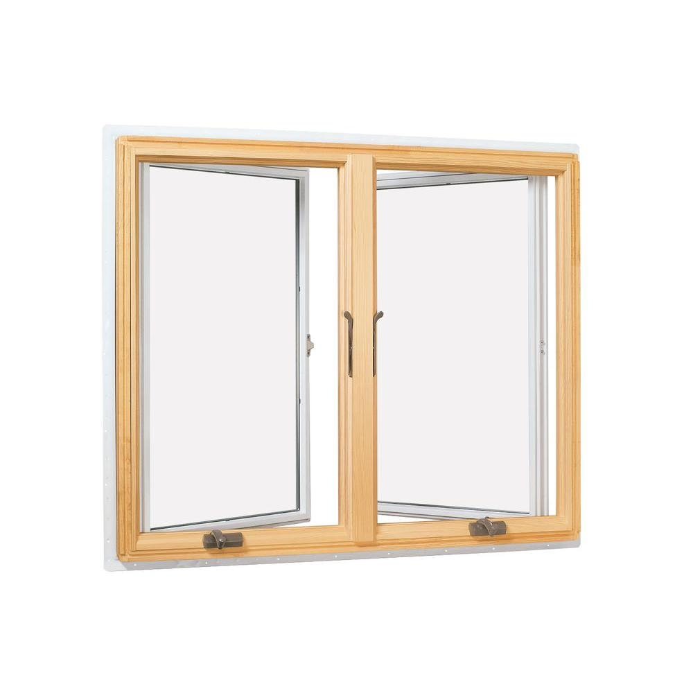 The Home Depot Andersen 4075 In X 40813 400 Series Casement Wood Window With White  Exterior