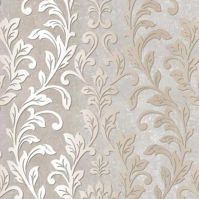 Norwall Silver Leaf Damask Wallpaper-TX34844 - The Home Depot