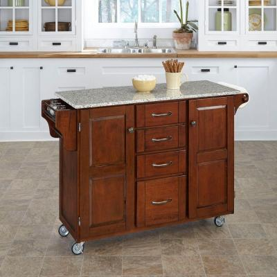 Home Styles Napa Natural Kitchen Cart With Storage-5099-95 - The Home Depot