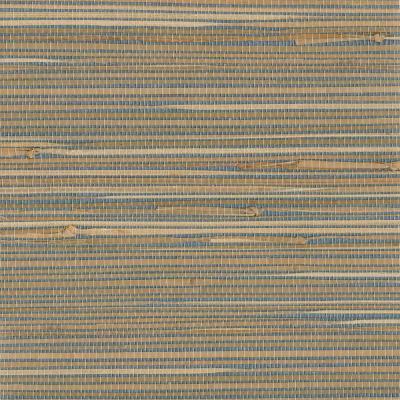 Kenneth James Jissai Mariner Blue Grasscloth Wallpaper-2693-30270 - The Home Depot