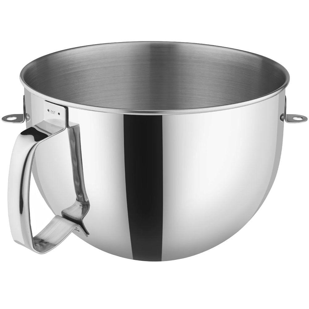 N KitchenAid 6 Qt Bowl Polished Stainless Steel With Comfort Handle For  BowlLift Stand