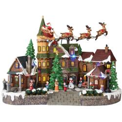 Swish Santa Sleigh Home Accents Holiday Animated Musical Led Village Village Sets Uk Village Sets Australia Animated Musical Led Village