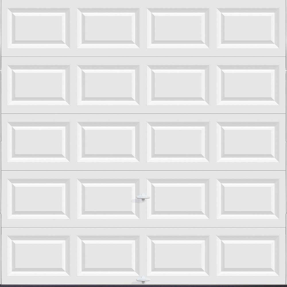 The Home Depot Clopay Classic Collection 8 Ft X NonInsulated Solid White Garage