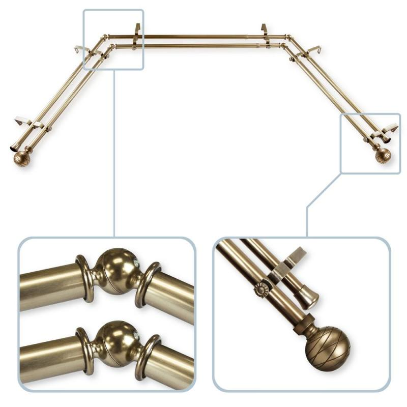 Large Of Bay Window Curtain Rods