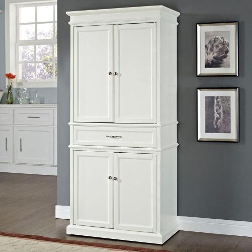 Medium Crop Of White Pantry Cabinet