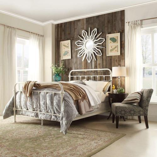 Medium Of White Metal Bed Frame