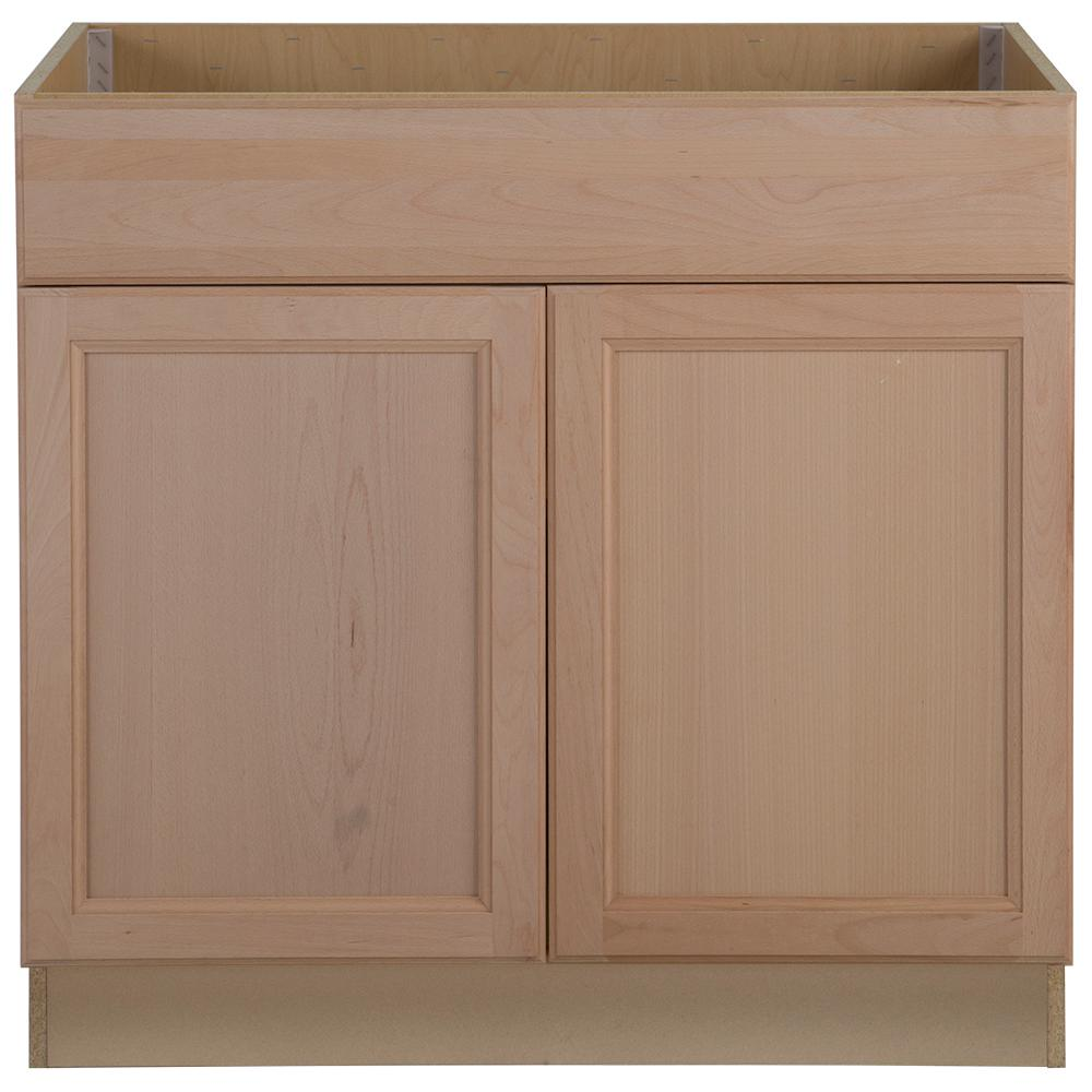 Hampton Bay Assembled 36 In X 345 2463 Easthaven Sink Unfinished Cabinet Drawers5