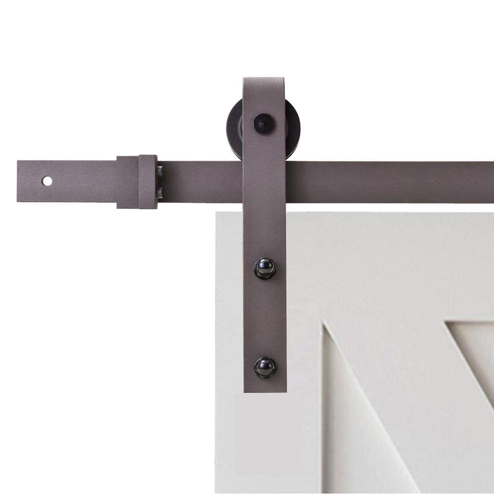 The Home Depot Classic Bent Strap Barn Style Sliding Door Track And Hardware Set