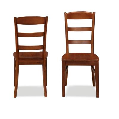 Home Styles Aspen Rustic Cherry Wood Ladder Back Dining Chair (Set of 2)-5520-802 - The Home Depot