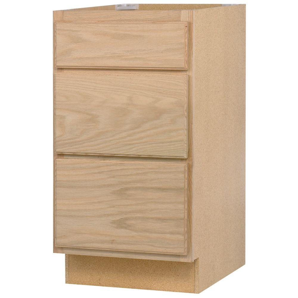 Base Kitchen Cabinet With 3 Drawers In Unfinished Oak Unfinished Cabinet Drawers Home Depot27