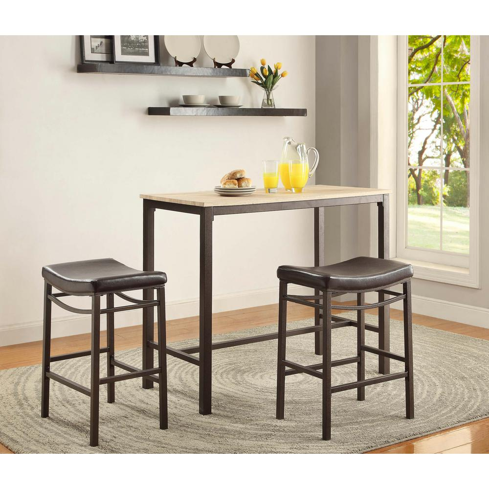 Trendy Chairs Counter Height Chairs Rustic Pub Table Linon Home Decor Betty Rustic Brown Bar Table Set Linon Home Decor Betty Rustic Brown Bar Table Set Pub Table houzz-03 Pub Table And Chairs