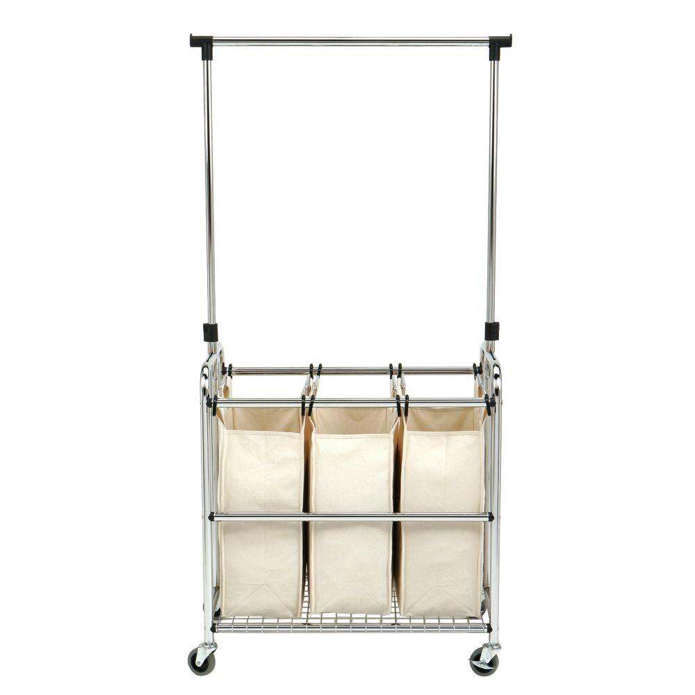 Fullsize Of Rolling Laundry Cart