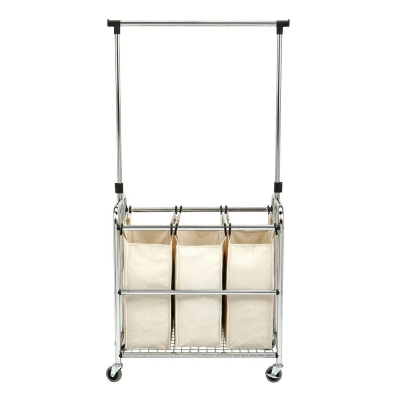Large Of Rolling Laundry Cart