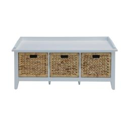 Small Crop Of White Storage Bench