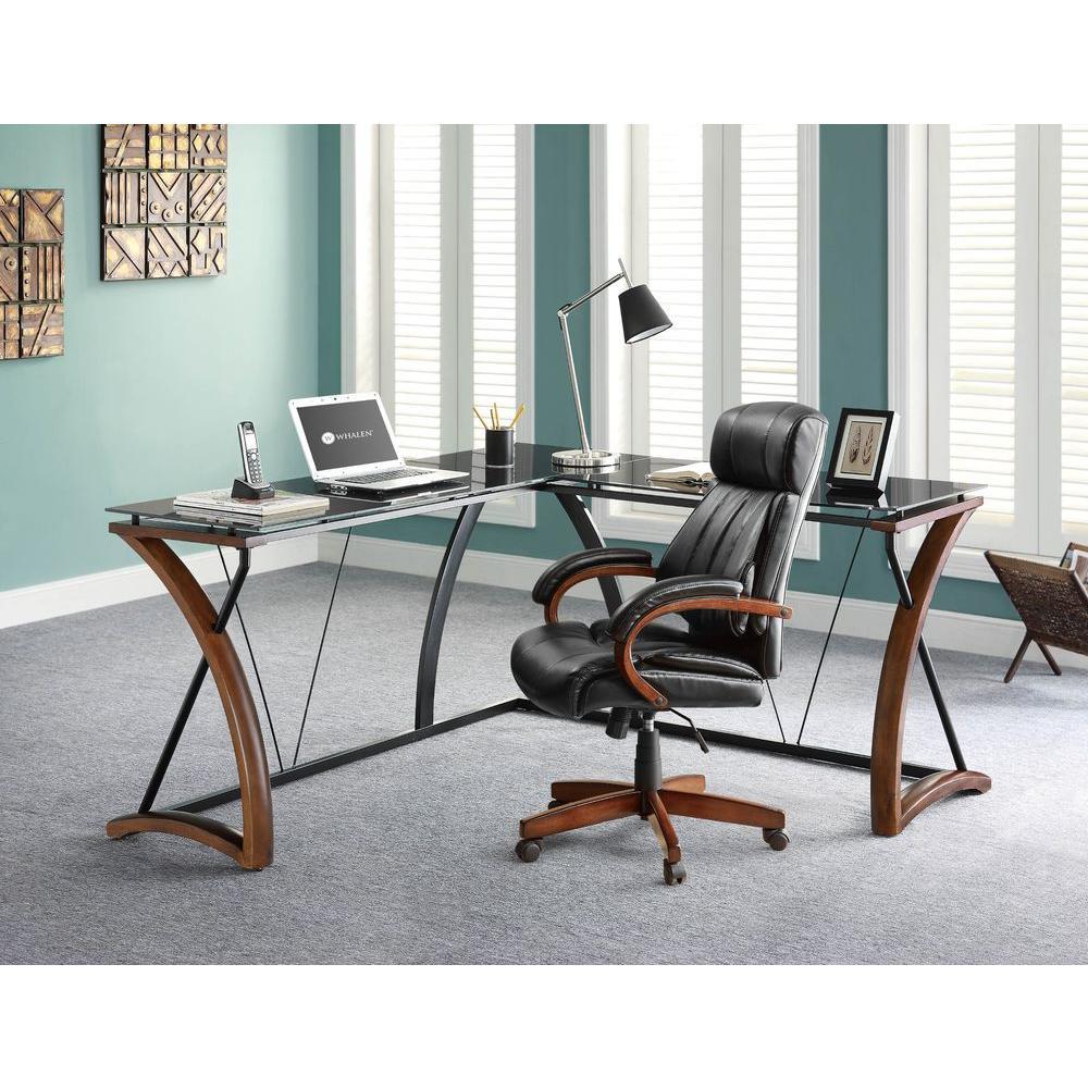 Fullsize Of Glass L Shaped Desk