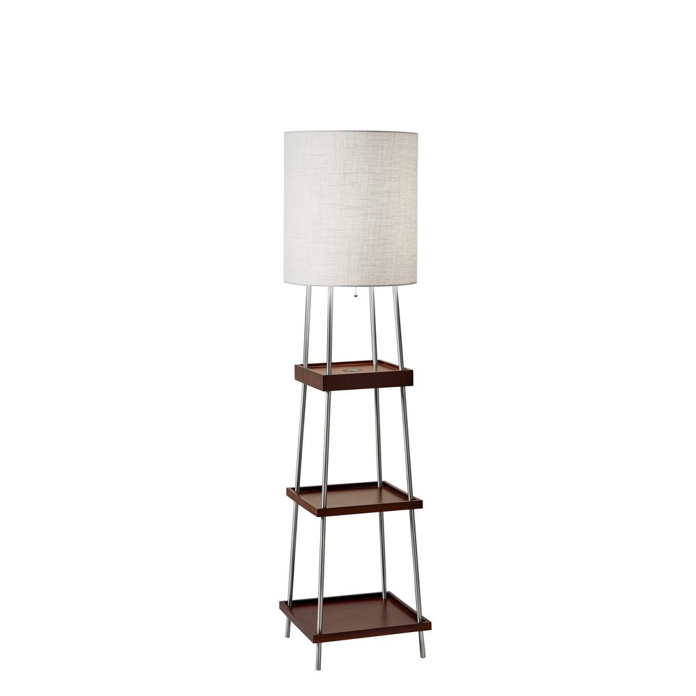 Impeccable Shelves Home Depot Lamp Shelves Thresh Brushed Shelf Lamp Adesso Henry Adessocharge Brushed Shelf Lamp Lamp houzz 01 Floor Lamp With Shelves