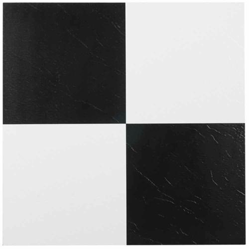 Medium Of Black And White Tile Floor