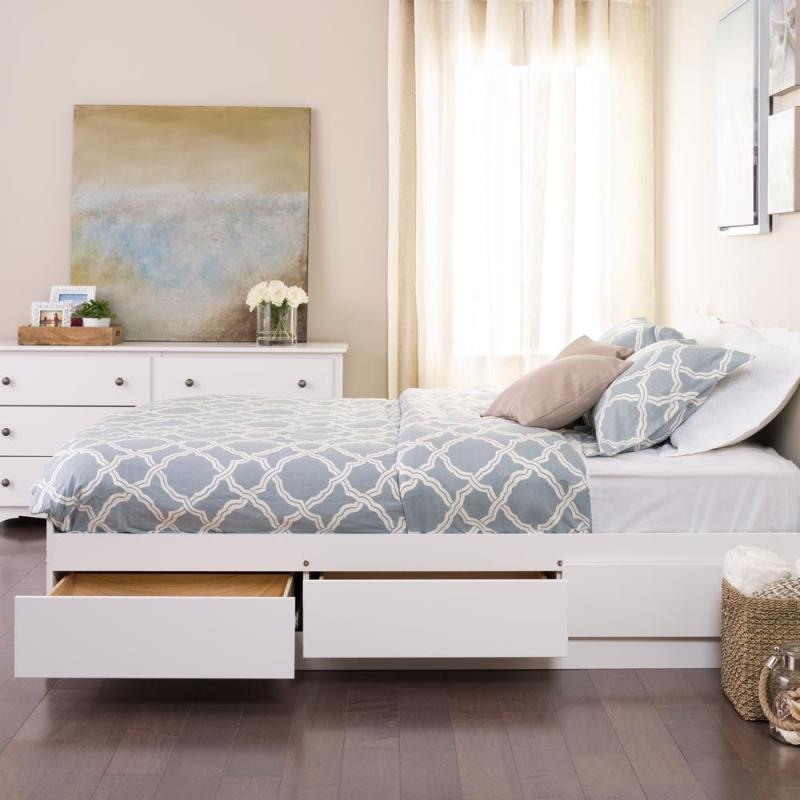 Large Of Bed With Drawers