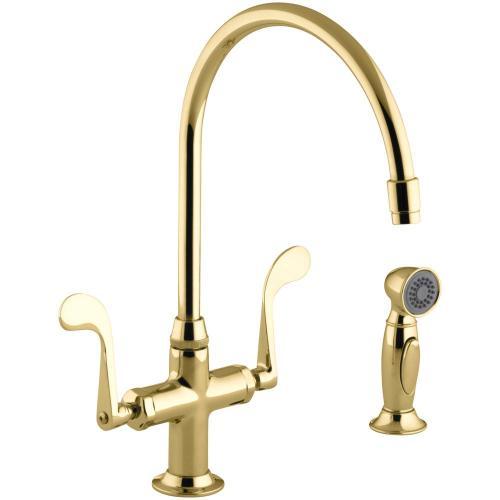 Medium Of Brass Kitchen Faucet