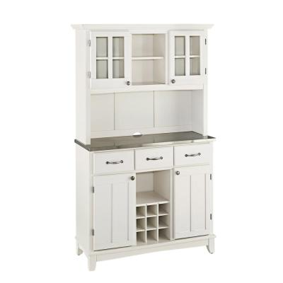 Home Styles White Buffet with Hutch-5100-0023-22 - The Home Depot