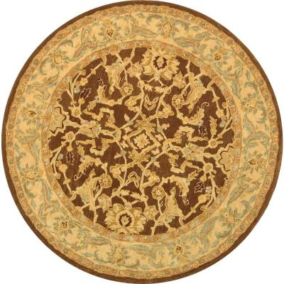 Safavieh Anatolia Brown/Tan 6 ft. x 6 ft. Round Area Rug-AN545B-6R - The Home Depot