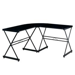 Small Of Glass L Shaped Desk