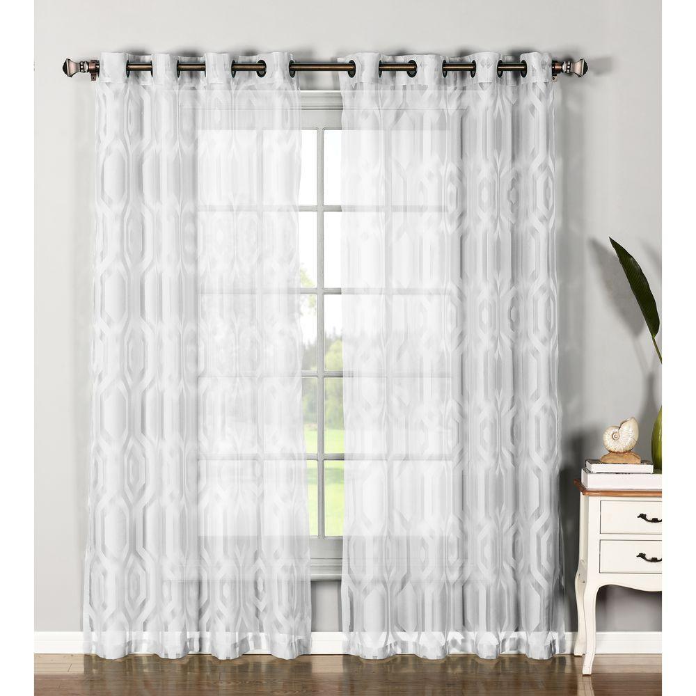 Fullsize Of Sheer White Curtains