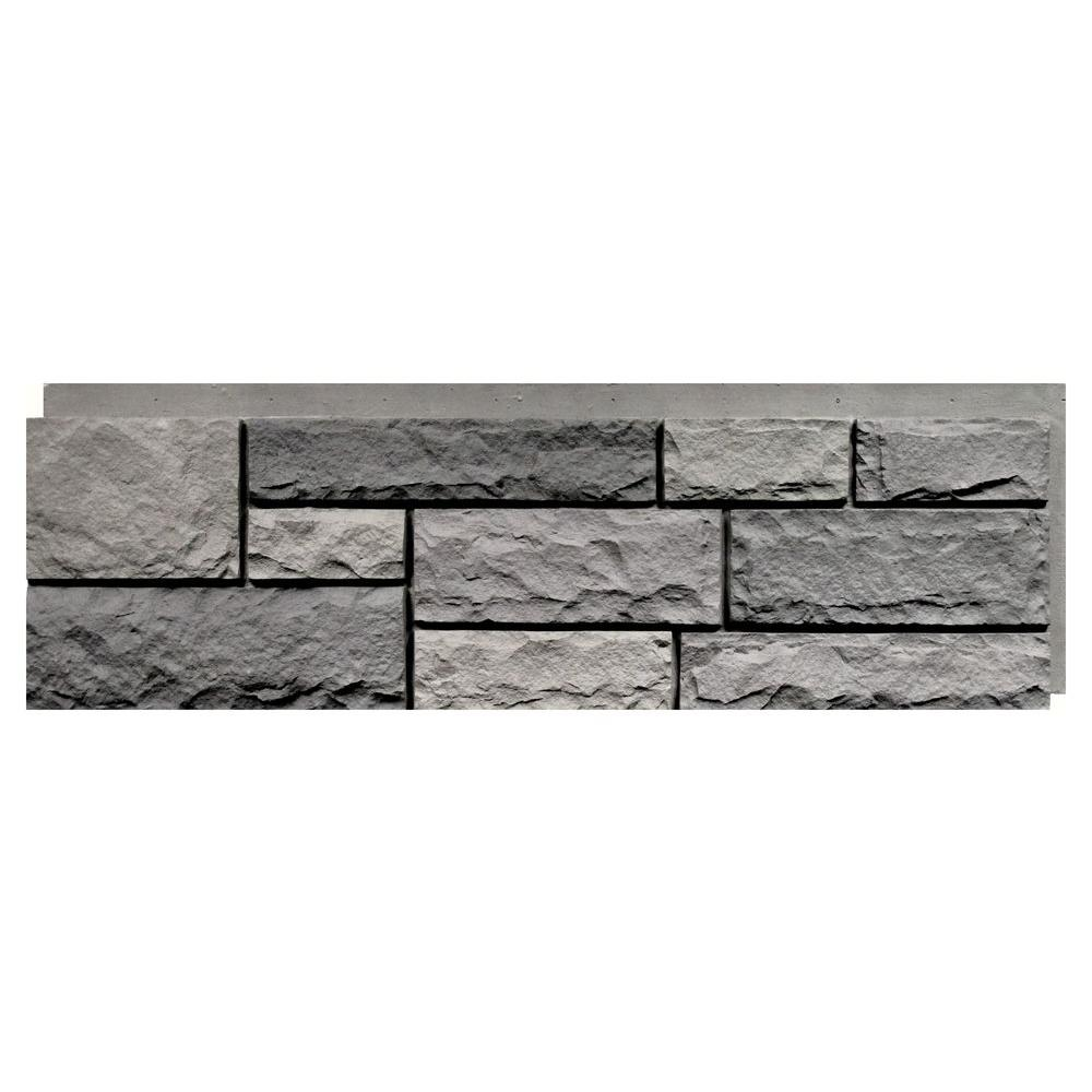 A NextStone Random Rock 155 In X 48 Faux Stone Siding Panel In Tri Gray  4PackRRPTG4  The Home Depot