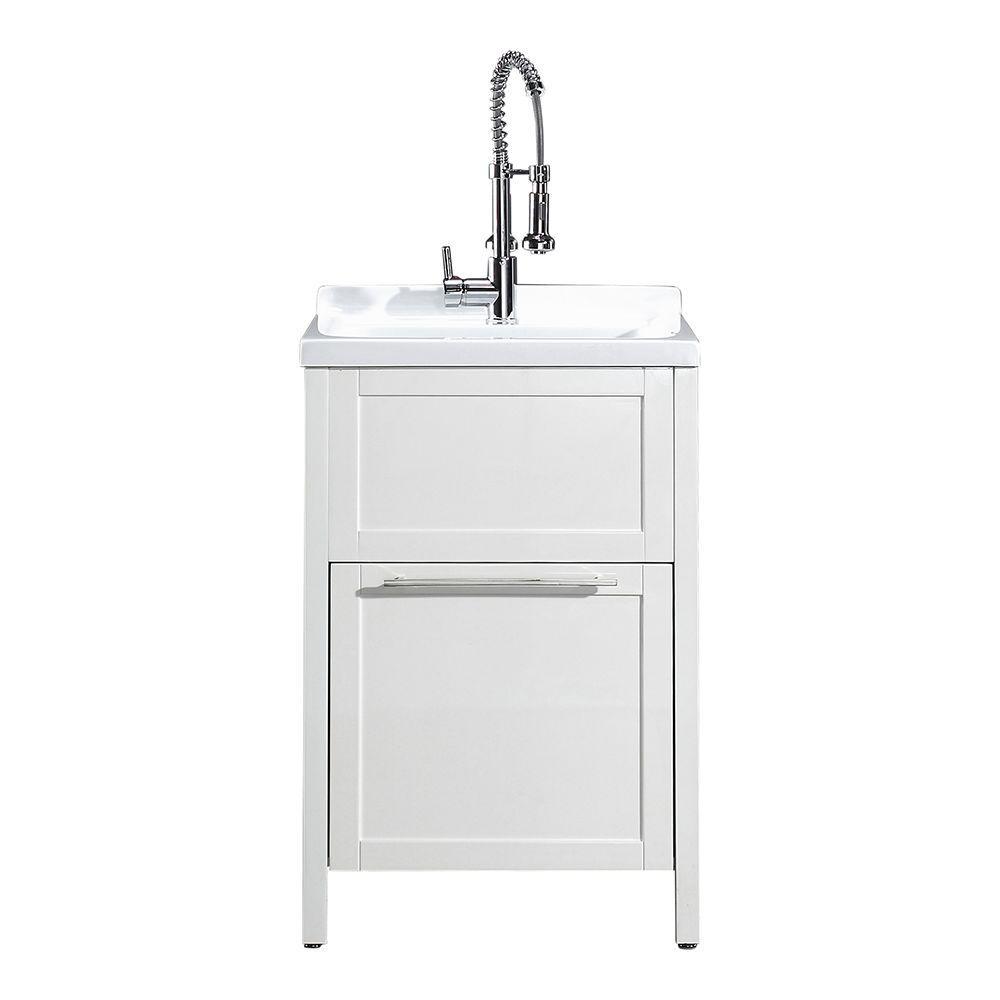 Schon Eleni AllInOne Kit 24 In X 22 Laundry Room Sink Cabinet Home Depot76