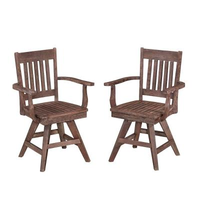 Home Styles Morocco Acacia Wood Swivel Patio Dining Chair (2-Pack)-5601-812 - The Home Depot