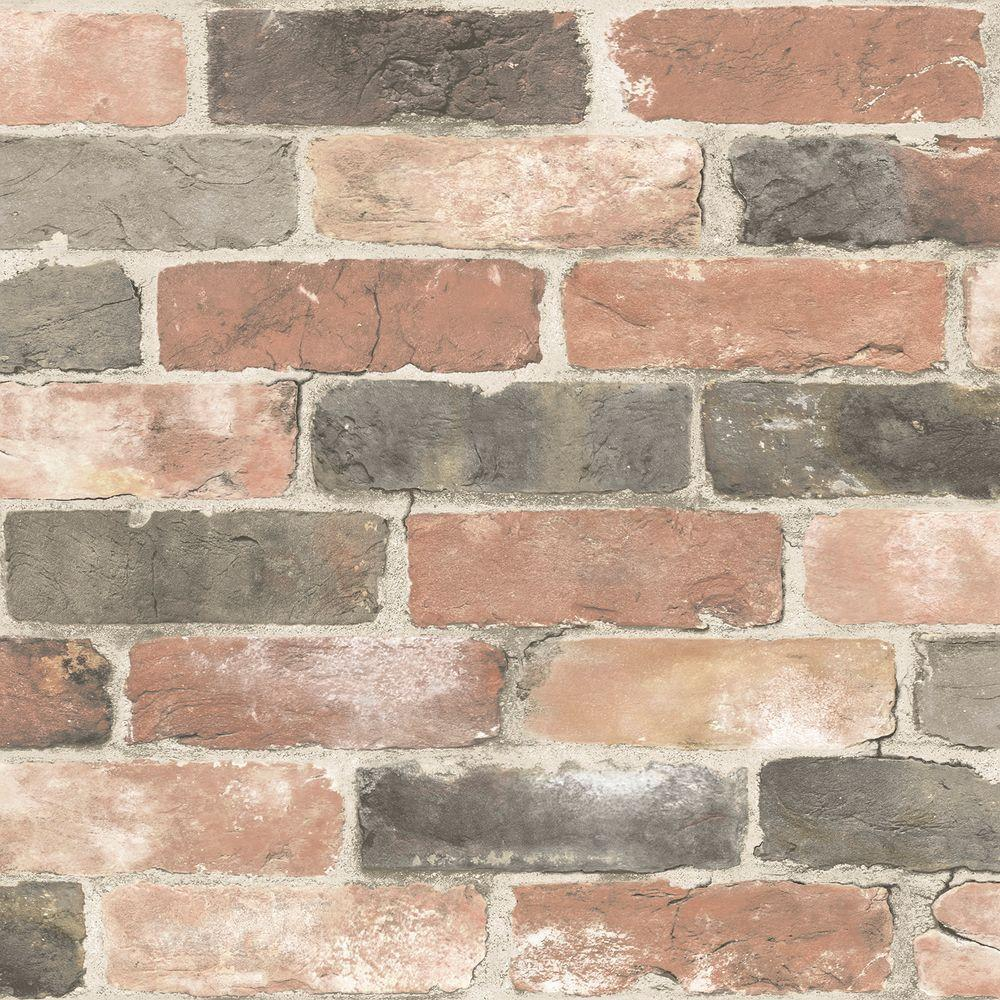 Nice Nuwallpaper Red Newport Reclaimed Brick Peel Stick Wallpaper Brick Wallpaper Home Depot Brick Wallpaper Classroom Stick Wallpaper Nuwallpaper Red Newport Reclaimed Brick Peel houzz-03 Brick Wall Paper