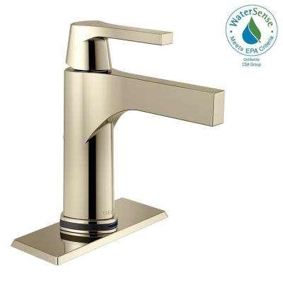 Zura Single Hole SingleHandle Bathroom Faucet With Touch2Oxt Technology  In Polished Nickel Touch Sink Faucet I15