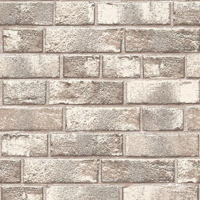 Tempaper Textured Brick Country Red Self-Adhesive Removable Wallpaper-BR526 - The Home Depot